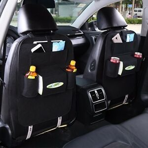 new black car auto vehicle seat back hanger holder organizer pocket storage bag ebay. Black Bedroom Furniture Sets. Home Design Ideas