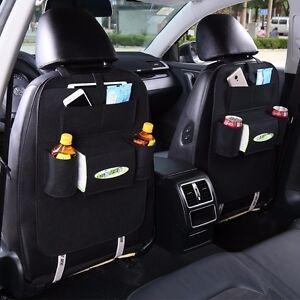 new black car auto vehicle seat back hanger holder organizer pocket storage bag ebay. Black Bedroom Furniture Sets. Home Design Ideas