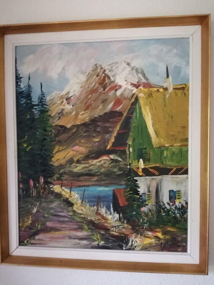 Akrylmaleri, Forskellige, motiv: Landskab