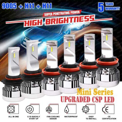 9005+H11+H11 LED Headlight Kits Hi//Lo+Fog Light for Honda Accord 13-2015 10500W