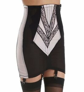 7f66302f3d Rago Shapewear Firm Control Open Pink   Black 6 Strap Garter Girdle ...