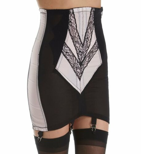 Rago Shapewear Firm Control Open Pink /& Black 6 Strap Garter Girdle Size 34//2XL