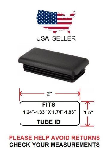 "1.5 X 2 INCH RECTANGLE TUBING PLUG//END CAP 1.5/"" X 2/"" QUANTITY 4"