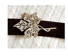 VALENTINO Fall Leaf Swarovski Suede Belt (retail £650)