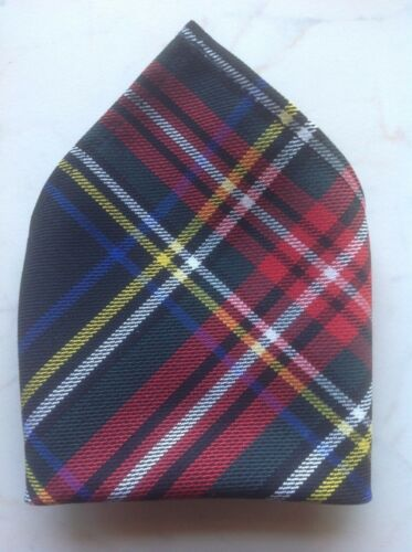 *NEW* Gents Mens Tartan Pocket Square Handkerchief Hankie Various Tartans