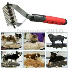 Dog Pet Cat Hair Fur Shedding Trimmer Grooming Dematting Rake Comb Brush Tool