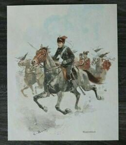 HO4-Farb-Holzschnitt-1885-1900-C-Becker-Manoeverleid-Husar-Uniform-Manoever
