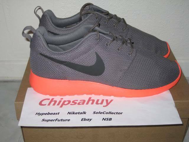 Nike Roshe Run One Mango Pink Grey Mesh shoes OG New DS Size 10