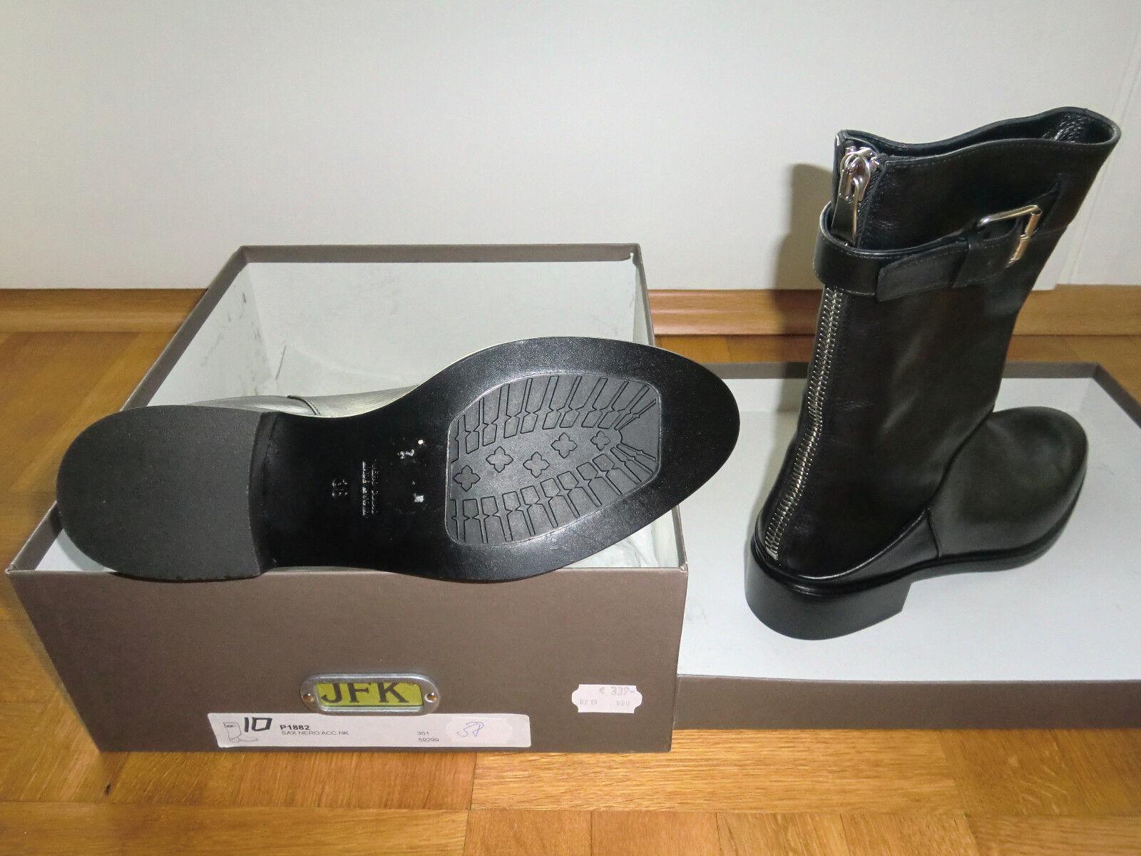 NEU JFK Schuhe Stiefeletten, Gr 38 in schwarz