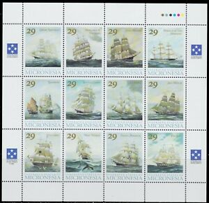 1993-FAMOUS-SAILING-SHIPS-CLIPPERS-FLYING-CLOUD-NH-SHEET-OF12-SCT-168-MI-277-288