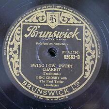 78rpm BING CROSBY swing low sweet chariot / darling nellie gray
