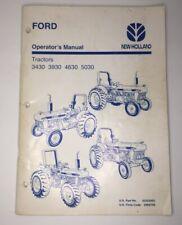 Ford New Holland 3430 3930 4630 5030 Tractors Oem Operators Manual 696