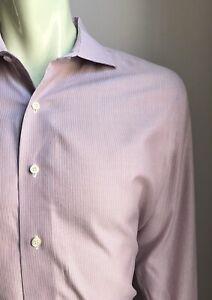 Brooks Brothers Shirt, Redmond Stripes, L (16-1/2, 32), Milano X-Slim Fit, EUC