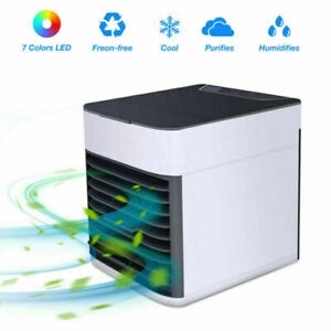 Mini Air Conditioner Fan Cool Bedroom Desk Portable Cooler Cube Water Ice USB