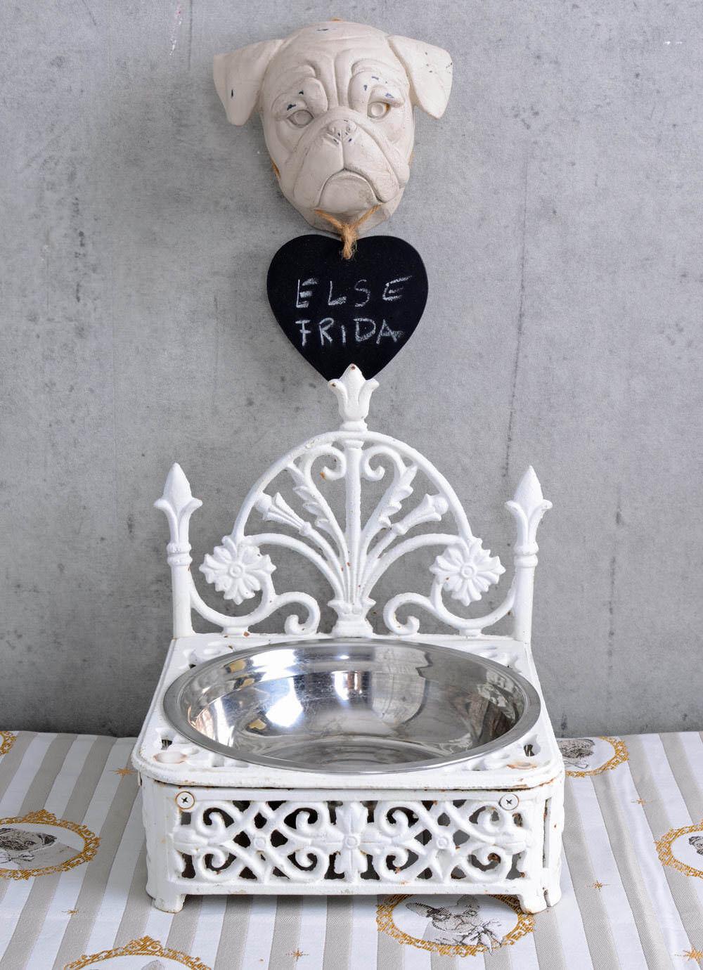 Royal Alimentazione Ciotola Per Cani Ciotola Ciotola dell'acqua Bianco Ghisa unico piatto ciotola in metallo