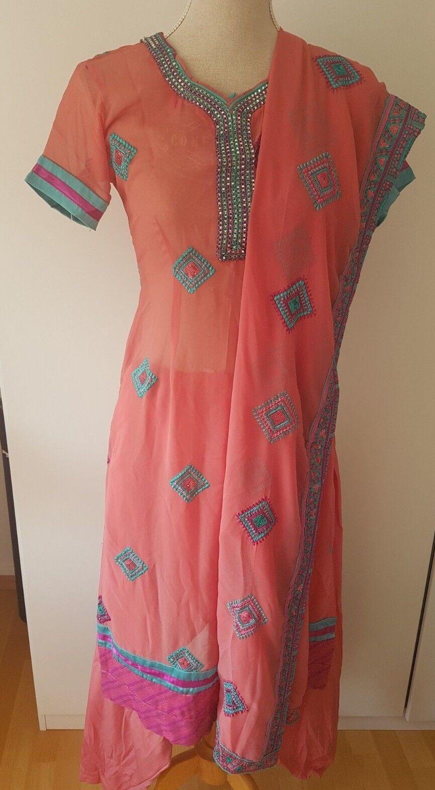 4-teiliges Schalwar Kameez Gr. S pakistanisch indisch   Hochwertig        Nicht so teuer    Sofortige Lieferung    Haltbarkeit    Verschiedene Stile und Stile  90647d