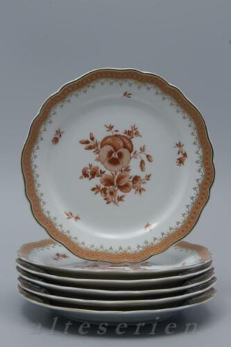 6 Cake Plate D 19 cm Hutschenreuther Maria Theresia Würzburg