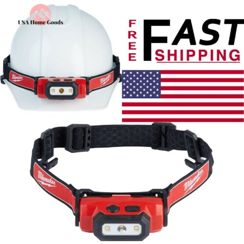 Rechargeable Hard Hat Headlamp 475 Lumen LED Adjustable Strap Impact Resist