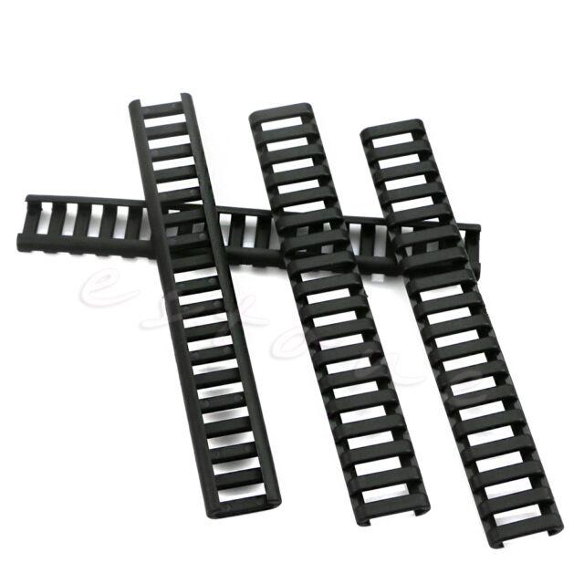 Rifle Ladder Rail Heat Resistant Cover Weaver Picatinny Handguard 8 Pack Black