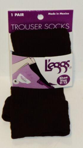 1 Pair Of Leggs Trouser Socks Shoe Size 9-12 Soft /& Silky BROWN