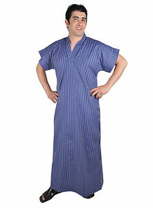 Senores-caftan-tunica-casa-vestido-vestido-de-verano-camison-sauna-Wellness-vestido-669