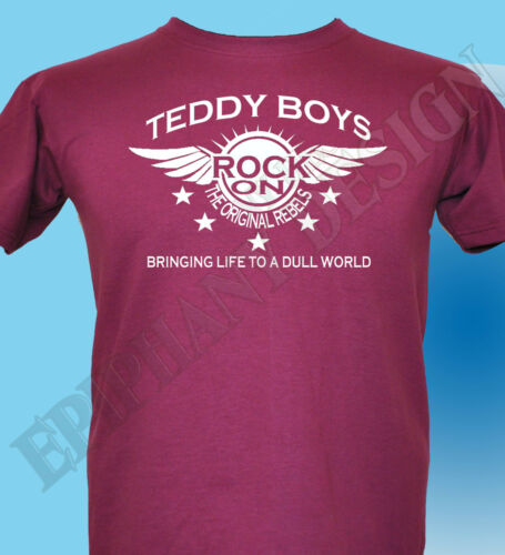 Teddy Boy Homage T-Shirt  Mens Womens Rock And Roll Cafe Racer The 50/'s Fifties