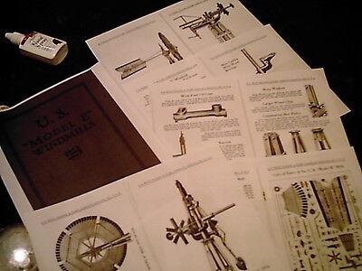 USWE  Model B  Windmill Diagrams /& Trade Literature