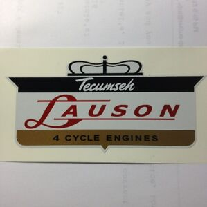 Tecumseh-Lauson-engine-Decal-1960-Crown-4-Cycle-Small-3-034-2-for-1-price