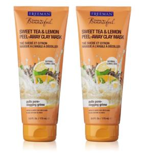 Freeman Feeling Beautiful Peel-Away Clay Mask, Sweet Tea & Lemon 6 oz Radio Frequency RF Vibration Massage LED Ultrasonic Anti aging Skin Care Device
