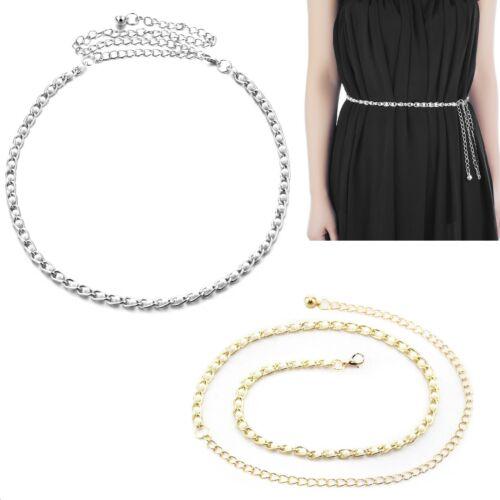 Ladies Pearl Beads Catena Cintura in Vita Oro Metallo Ciondolo Riga per abiti da sposa Abito