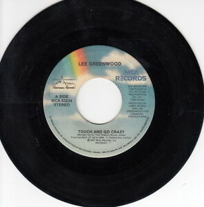 ONE-1987-039-S-45-R-P-M-RECORD-LEE-GREENWOOD-TOUCH-AND-GO-CRAZY-SILVER-DOLLAR