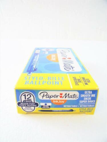 Point Blue 1951259 12 Paper Mate InkJoy 300RT Comfort Grip Ballpoint Pens Med