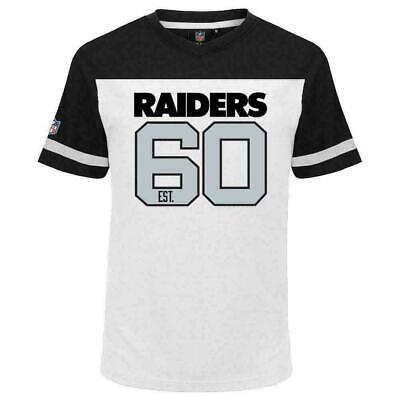 Majestic Oakland Raiders NFL Prism T Shirt Mens S M L XL 2XL