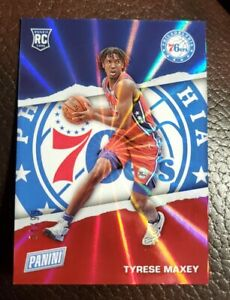 2021 Panini Fathers Father's Day TYRESE MAXEY Rookie Card #RC10 #'d 94/99