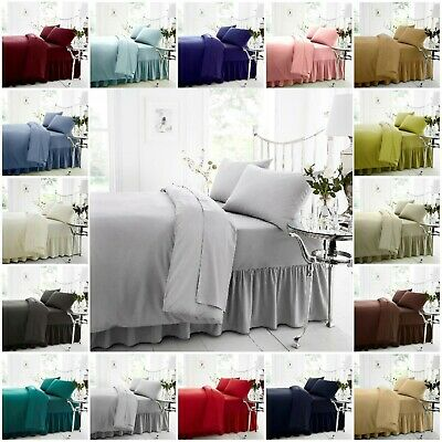 """Fitted Sheet Percale T-180 Brand New 25 cm//10/"""" Bed Sheets UK NO.1 All UK Sizes"""