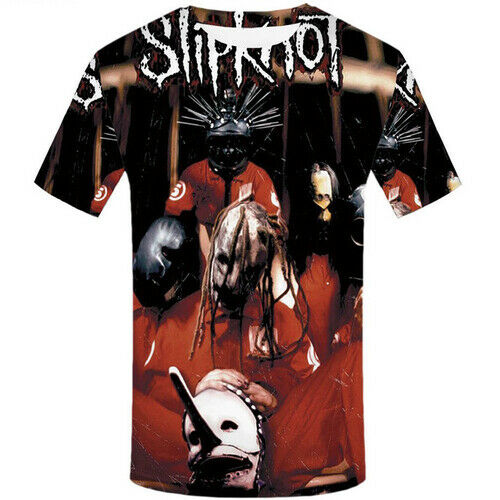 3D Print Slipknot Marching Band Women Men T-Shirts Short Sleeve Summer Tee Tops