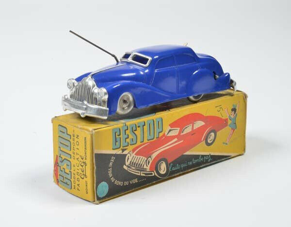 Antique Plastic Tin ToyBoxed ToyBoxed ToyBoxed GeGe France Gama American Passenger Car Magic 2686a4