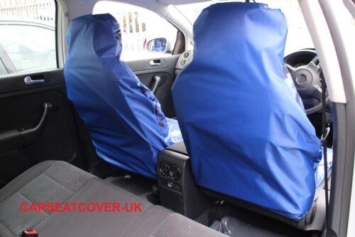 Azul Camuflaje Impermeable cubiertas de asiento de coche Fiat Panda 2 X frentes 2003-12
