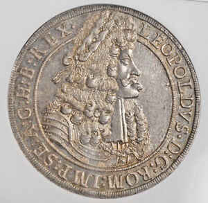 1704-3-Austria-Leopold-I-034-the-Hogmouth-034-Silver-Thaler-Coin-Top-NGC-MS-65