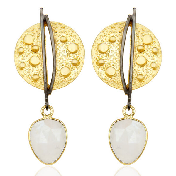 Elegant Womens 14K Gold Plated Ethnic Earrings Fashion Classic Jewelry