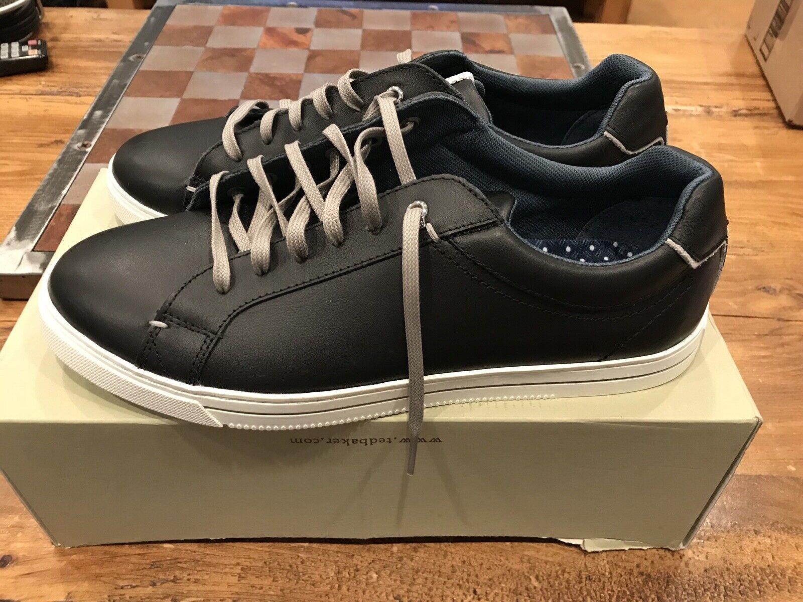 Men's Ted Baker Nhawne scarpe da ginnastica - nero Dimensione 9.5