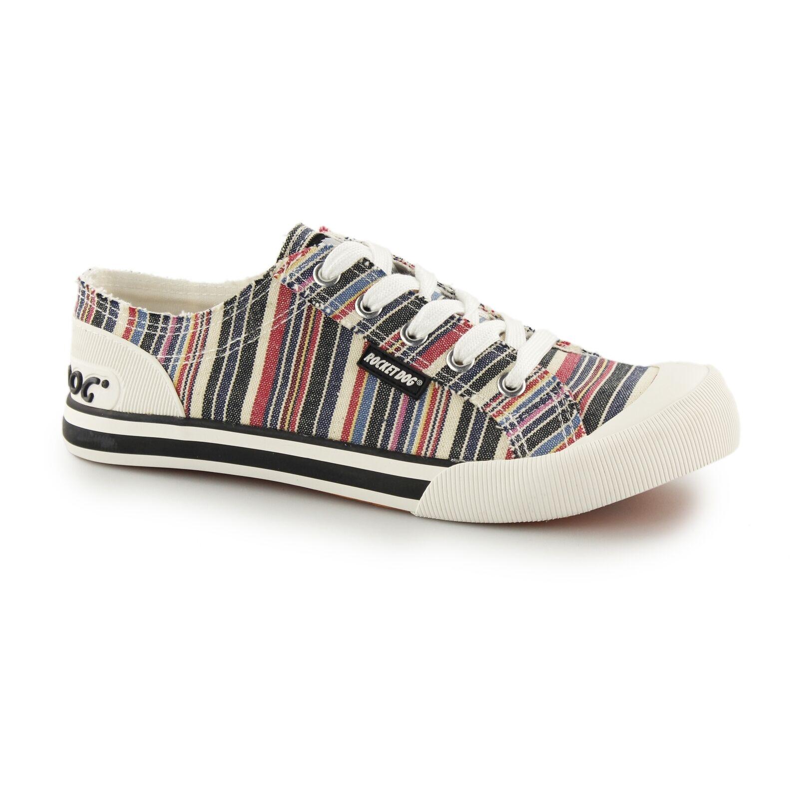 Rocket Dog Jazzin Señoras Para Textil Mujer Informal Clásico Textil Para Con Cordones Zapatos Entrenador 14dacc