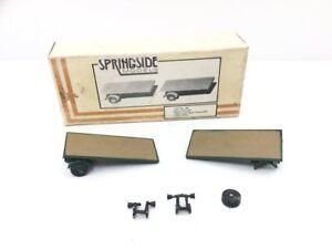 Springside-86-1-76-OO-Gauge-2x-Flatbed-Trailers-Whitemetal-Kit
