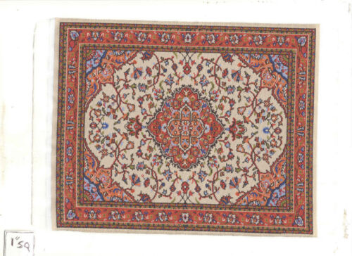 Rug  #10L  miniature dollhouse woven fabric carpet  1pc 1//12 scale Turkish