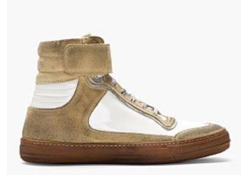 Diesel Black gold Mens Distressed Hi Top Sneakers White Size uk 9 eu 43