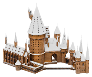 Fascinations-ICONX-Harry-Potter-HOGWARTS-IN-SNOW-Castle-3D-Metal-Earth-Model-Kit