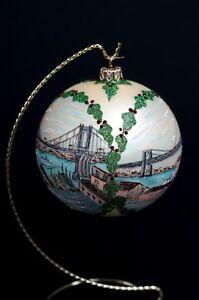 3-Brooklyn-Bridges-CHRISTMAS-HOLIDAY-ORNAMENT-Large-Hand-Made-Original-Design