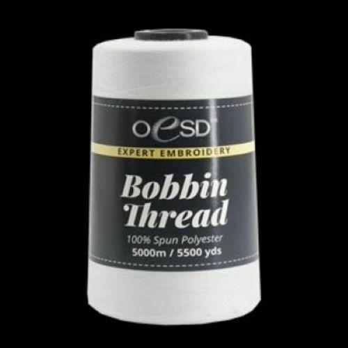 OESD EMBROIDERY BOBBIN THREAD WHITE 5500 yards