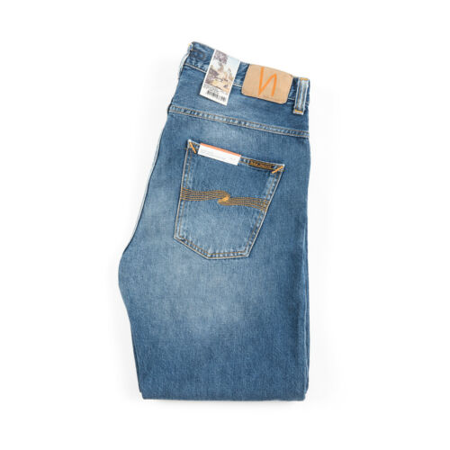 somnolent Jeans Droit détendu Sleepy 112885 bleu Nudie Orange céleste Sixten wROn4F