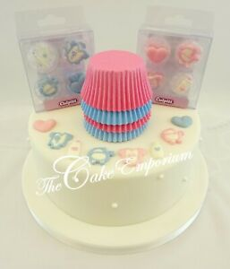GIRL-BOY-NEW-BABY-BABY-SHOWER-CHRISTENING-CUPCAKE-CASES-amp-TOPPERS